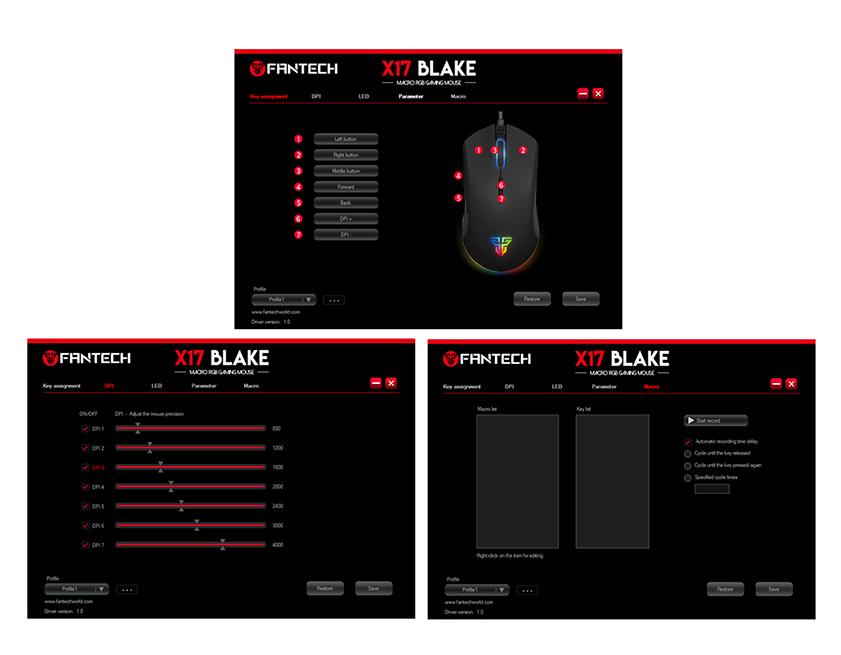 Mouse Gaming Blake X17 - Fantech - 8